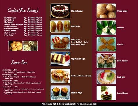 contoh gerobak kue contoh desain acy roti dan kue brosur