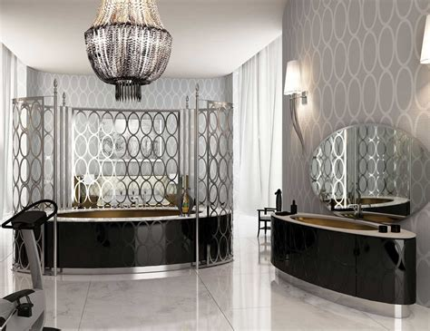 visionnaire saturnia luxury italian bathtub in black lacquer