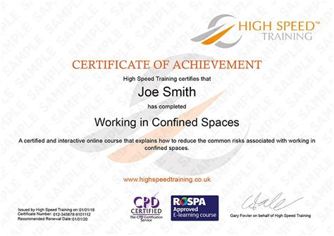 Confined Space Certificate Template The Hakkinen Confined Space Certificate Template