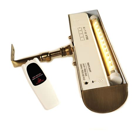 remote picture light polished brass cordless led remote picture light