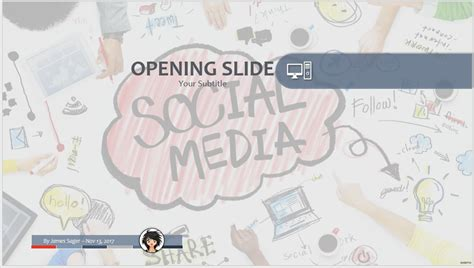 Free Social Media Ppt 64082 Sagefox Powerpoint Templates Social Media Ppt Template Free