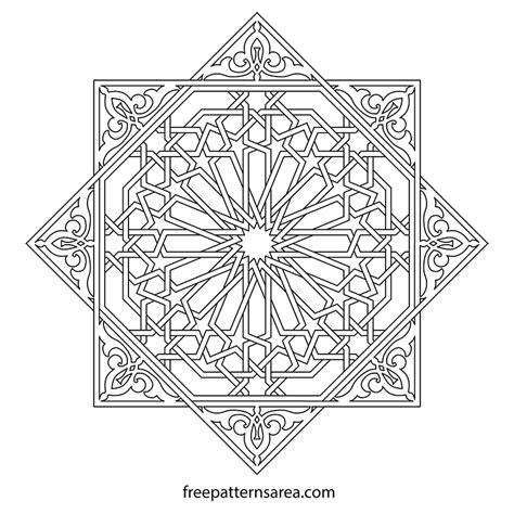 islamic pattern png geometric islamic ornament art vector patterns