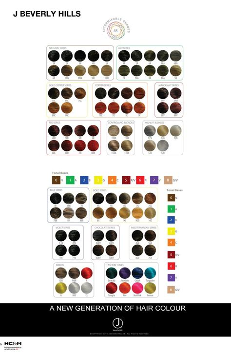 J Beverly Hills Hair Color Chart | j beverly hills hair colour chart color charts