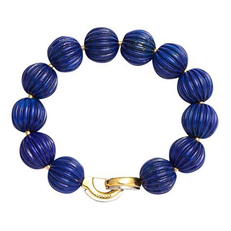 lapis bead bracelet cartier lapis bead bracelet by cartier