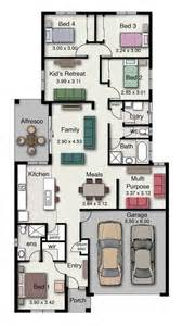 4 Bedroom Single Story Floor Plans one story house plans with porches 3 to 4 bedrooms and