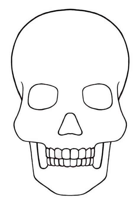 blank sugar skull template skull template mini for my quot quot to do