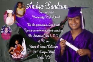 high school graduation announcements sles sles of high school graduation invitations
