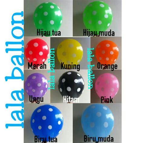 Balon Balon Motif Polkadot Transparan Souvenir Ultah Polkadot jual balon polkadot warna warni murah jef birthday collection