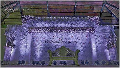 Wedding Venue Backdrop by Wedding Backdrops Backdrop Decorations Melting Flowers