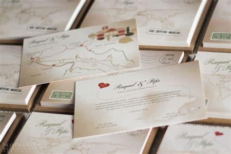 themed wedding invitations uk s journey vintage map travel theme real weddings