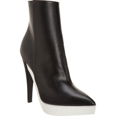 stella mccartney boots stella mccartney thick platform ankle boot in black lyst