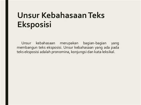 tesis teks eksposisi adalah bahasa indonesia eksposisi