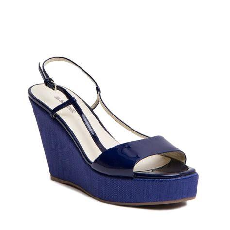 jil sander royal blue wedge sandals for sale at 1stdibs