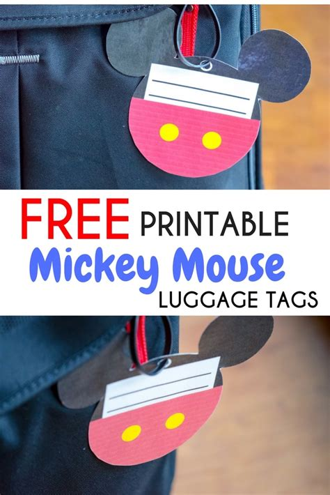 printable luggage tags disney free printable mickey mouse luggage tags brought to you