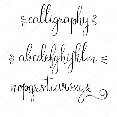 lettere calligrafia carattere corsivo di calligrafia vettoriali stock