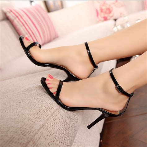 high heel platforms shoes fashion concise one high heel sandals 10960512