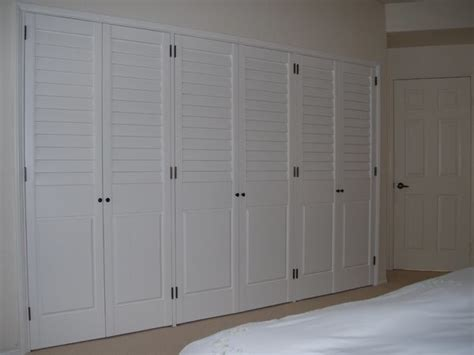 Shutter Doors For Closets More Custom Closet Doors Traditional Closet San Diego By Brothers Custom Shutters