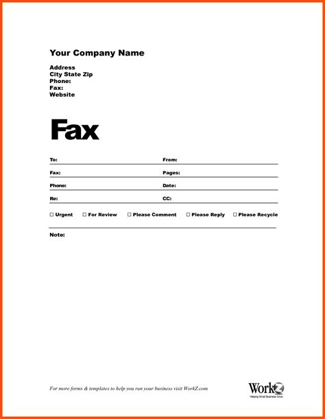 fax cover sheet office templates