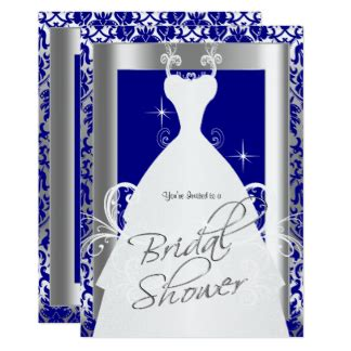 blue and silver bridal shower invitations royal blue bridal shower gifts on zazzle au