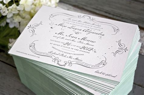 vintage style wedding invitations zayra ivan s vintage inspired gray celadon wedding