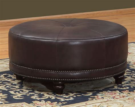 burgundy ottoman leather cindy burgundy leather round ottoman wh f371 3327 lazzaro