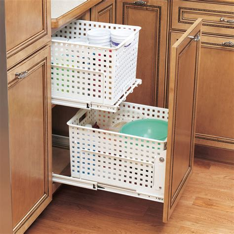 Laundry Pull Out Cabinet by Rev A Shelf Pull Out Laundry Her And Utility Basket For