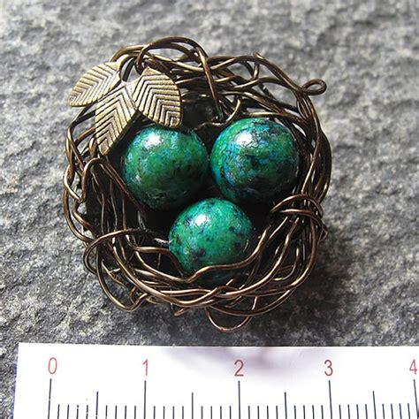 Handmade Gemstone Jewellery Australia - gemstone bird s nest brooch handmade jewellery australia