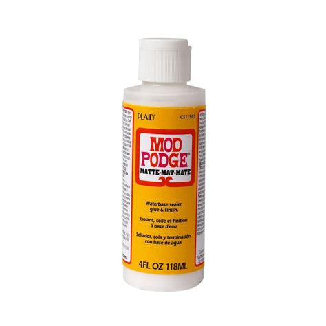 Decoupage Mod Podge - mod podge 4 oz matte decoupage glue cs11305 the home depot