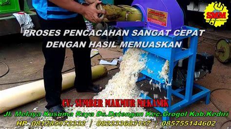 Mesin Perajang Batang Pisang mesin pencacah batang pisang perajang gedebog pisang