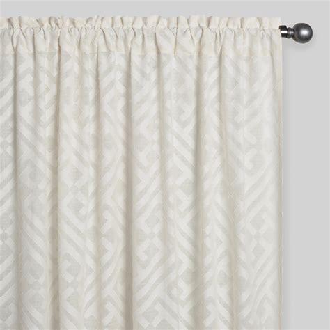 cutwork curtains sheer cutwork sleevetop curtains set of 2 world market