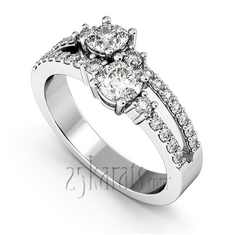 quot you me quot split shank two prong set ring 0