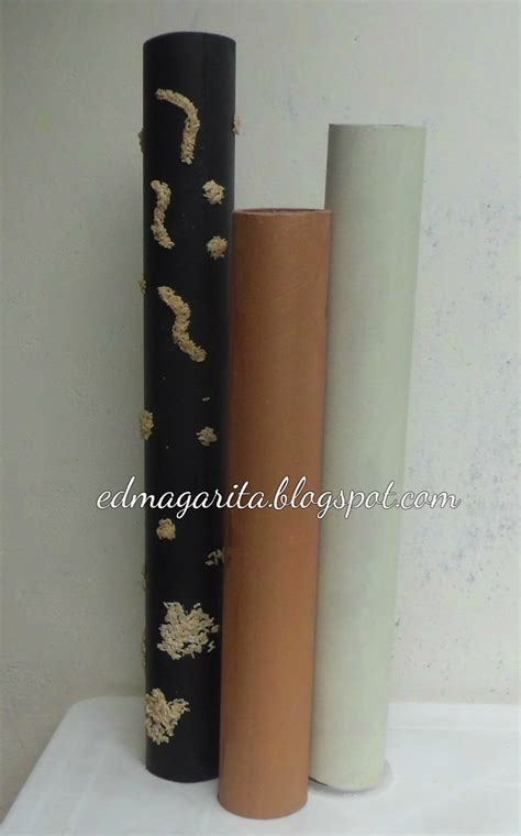 floreros tubos de carton arte manual como hacer floreros de tubos de cart 243 n