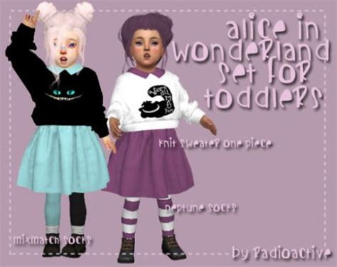 sims 4 toddler cc sims 4 cc s the best alice in wonderland set for