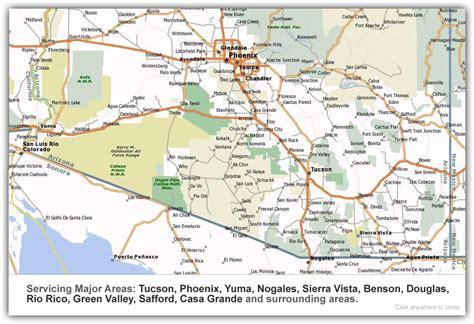 printable map of tucson area map of southeast arizona my blog