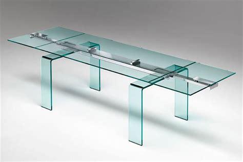 tavoli allungabili vetro 25 tavoli in vetro allungabili di design mondodesign it