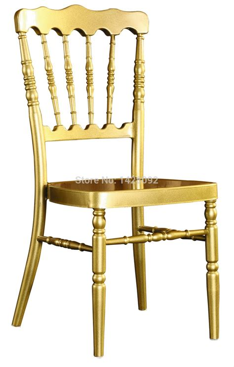 wholesale quality strong gold aluminum napoleon chair for