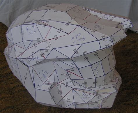 How To Make A Paper Halo Helmet - pin paper halo helmet template pictures on