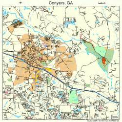 map of conyers conyers map 1319336