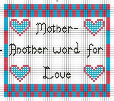 cross stitch pattern maker words 17 best images about free mother s day cross stitch