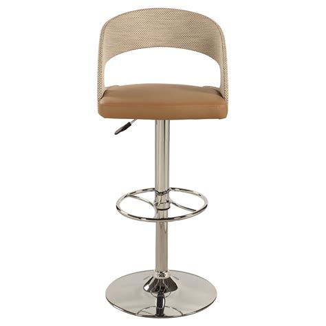 chrome swivel bar stools with back contemporary beige leather adjustable swivel bar stool