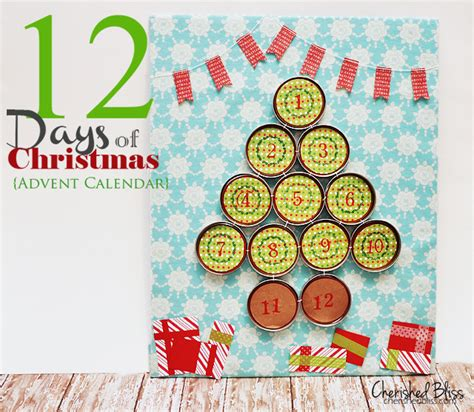 What Calendar Days Are The 12 Days Of 12 Days Of Advent Calendar Cherished Bliss