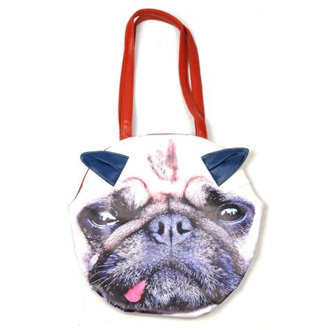 pug handbags cat pug bag kitsch handbag new bnwt gift kitten ebay