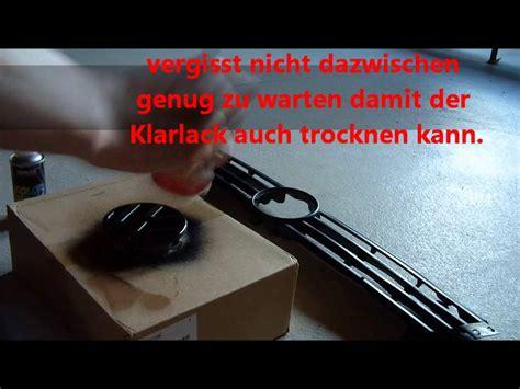 Lackierung Ohne Klarlack by Vw Auto Emblem Schwarz Lackieren Mit Klarlack Und Graffiti