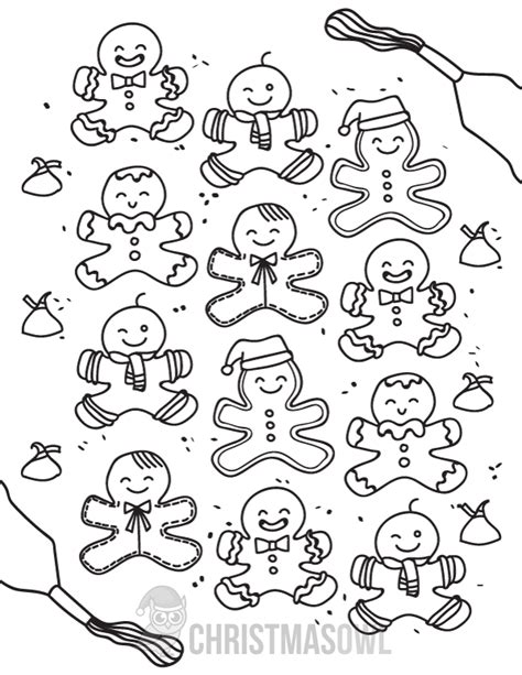 Free Gingerbread Coloring Pages