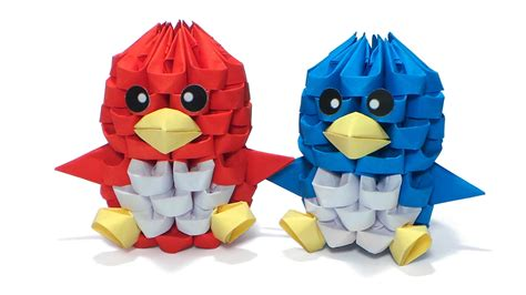 3d origami tweety bird tutorial 3d origami tiny bird tutorial youtube