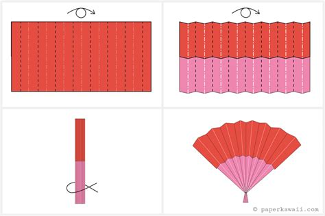 easy diy origami fan