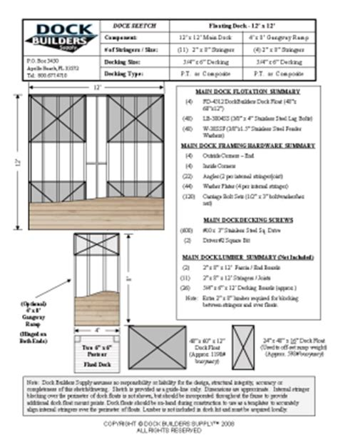 floating boat dock blueprints dock builders supply floating dock plans