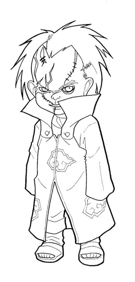 chucky and bride coloring pages