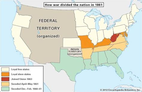 map of the united states during civil war american civil war united states history britannica com