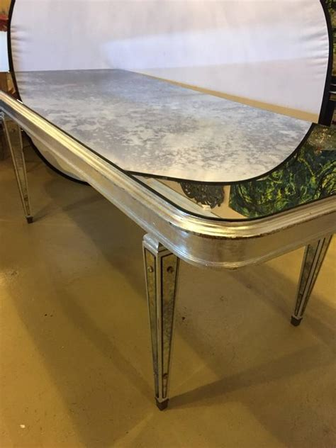 Antique Mirror Dining Table Antique Mirrored Regency Decorative Dining Room Table For Sale At 1stdibs
